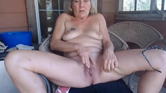 grandmother blonde masturbate her vagina. Thumb